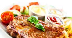 Kotlety s pečenou zeleninou Pork Recipes, Recipies, Salmon Burgers, French Toast, Breakfast, Ethnic Recipes, Food, Recipes, Essen
