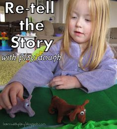Re-tell the Story. With play dough!- Fun Reading Comprehension activity for kids