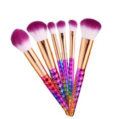 6pcs Pro Maquiagem Brush BB Cream Concealer Eyeliner Gel Lip Professional Makeup Brushes Set Cosmetic Makeup Tools Maquillage