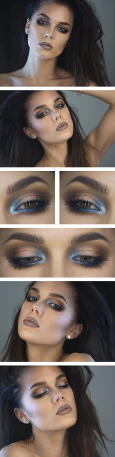 "This would be a good sea siren makeup look. Maybe add some ""scales"" here and there using shimmer eyeshadow and fishnets."