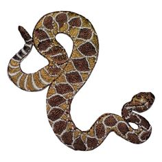 11 1x Snake Diamante Rhinestone Motif Iron On Hotfix Transfer Applique 16x3cm