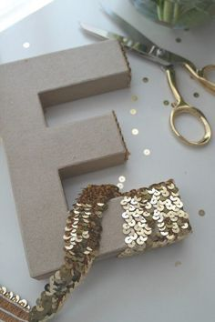 Easy and Glamorous Sequin Letters