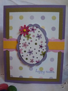 Happy Easter Card Stampin Up by sweetapplespice on Etsy, $3.50