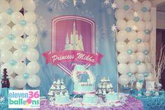 Frozen Themed Party Balloon Decoration Ideas - Party Theme Decor