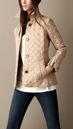 Heritage Quilted Jacket | Burberry My mother in law just gave me this Burberry Jacket! I'm so excited to use it!