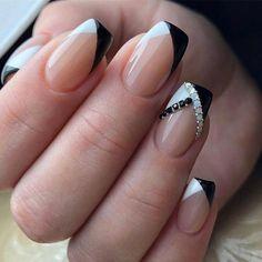 nail tips acrylic colored ~ nail tips . nail tips acrylic . nail tips design . nail tips and tricks . nail tips with dip powder . nail tips gel . nail tips acrylic short . nail tips acrylic colored French Manicure Designs, Classy Nail Designs, Gel Designs, Nail Art Designs, Pedicure Designs, Unique Nail Designs, Fancy Nails Designs, Nail Manicure, Diy Nails