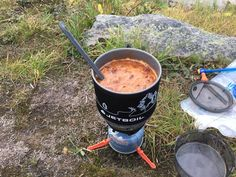 Rehydrating your homemade backpacking meal in camp is quick and easy