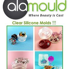 ALAMOULD   clear silicone molds, link for tutorials