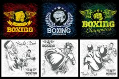 Check out Boxing & MMA - grunge labels by Digital-Clipart on Creative Market