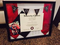 College graduation shadow box <333
