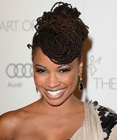 gray locs hairstyles  | Shanola Hampton natural hair