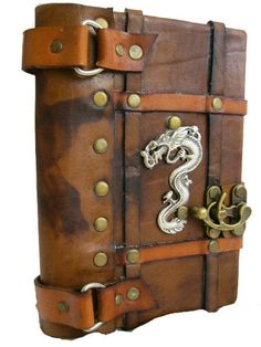 Handmade Leather Journal with Dragon Emblem