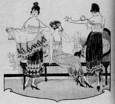 Elaborate petticoats advertised in the October 2, 1919 issue of the Seattle Star.