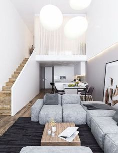 Trendy home interior modern house design loft Loft Design, Tiny House Design, Modern House Design, Modern Interior Design, Interior Ideas, Interior Architecture, Design Design, Studio Design, Minimalist Home Design