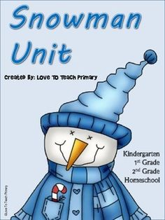Kindergarten, 1st, 2nd, Homeschool Unit  with Math, Language Arts, Science, Games, and more!