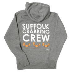 Suffolk Crabbing Crew Hoodie - Grey Marl