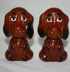 Vintage Basset Hounds Salt and Pepper Shakers Dogs Hand Painted Japan Large Set http://stores.ebay.com/The-Spicy-Senior?_rdc=1
