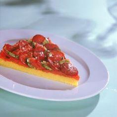 Pizza de Polenta com Calabresa