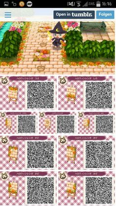 Sol Automne-Halloween (QR code) – New Ideas Fall-Halloween ground (QR code) Fall-Halloween ground (QR code) Animal Crossing Guide, Animal Crossing Qr Codes Clothes, Animal Crossing Pocket Camp, Acnl Halloween, Halloween Design, Halloween Ideas, Post Animal, My Animal, Acnl Qr Code Sol