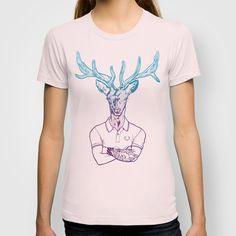 bambi's a grown up now  T-shirt by Julien Perron - $18.00