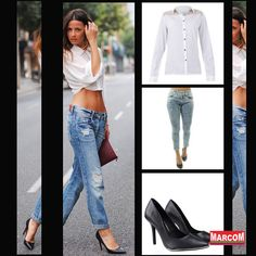 http://modamarcom.com.br/calca-boyfriend-se-renda/ #boyfriend #pants #style #jeans #denim #look #kim #kardashian #basic #heels #fashion #shirt #sexy #beauty