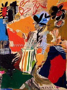 spanish_art_contemporary_painting-artistes_espagnols_peintres-merello.-florero_diagonal_(65x50_cm)_mixed-media-table
