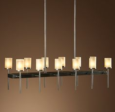 Sloane Rectangular 12-Arm Chandelier - love this for a long dining table