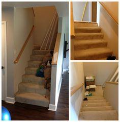 DIY hardwood stairs