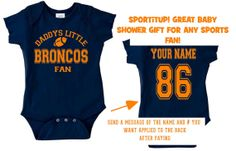 daddys mommy broncos baby jersey customized personalized infant shirt jersey denver gear onesie bodysuit