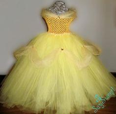 Disney Beauty and the Beast Belle Tutu Dress. $75.00, via Etsy.