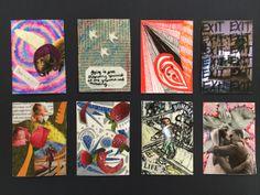 High school artist trading cards.