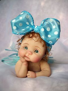 """❤OOAK HAND SCULPTED BABY GIRL """"PERCILLA""""   BY: JONI INLOW* DOLLY-STREET❤"""