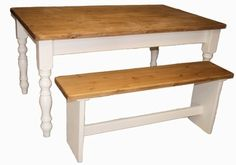 Beautiful hand painted farmhouse table and bench set
