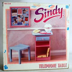Vintage 1990 Sindy Telephone Table Pinboard Hasbro MISB for sale online Barbie House Furniture, Doll Furniture, Sindy Doll, Dolls, Telephone Table, Miniature Crafts, My Childhood Memories, Dollhouse Miniatures, Toy Chest