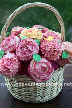 "Cute idea.  ""Wedding Cupcake Bouquet"" by peeka85 on deviantArt."