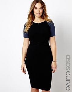 Image 1 of ASOS CURVE Exclusive Body-Conscious Dress With Twist Waist