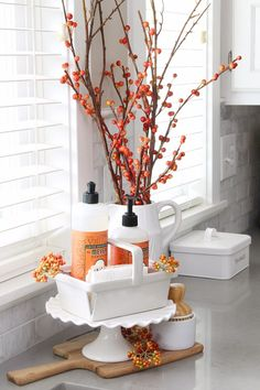 A little pumpkin spice dish soap always makes dish washing easier. 😉 (and the apple cider scent is even better!) Find the rest of our fall kitchen . Design Room, Home Design, Design Ideas, Fall Kitchen Decor, Fall Home Decor, Autumn Home, Kitchen Ideas, Fall Apartment Decor, Kitchen Decorations