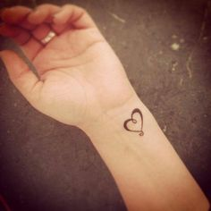 Heart tattoo on the wrist - lovely
