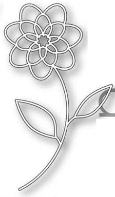 PoppyStamps Cecilia Flower Outline 867