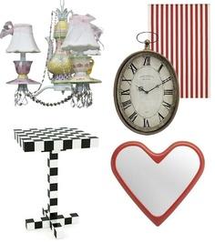 Different Tim Burton/Alice in Wonderland furniture ideas.