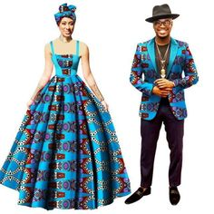 African Clothing For Family Couple Dashiki Cotton Print Man Blazer Woman Dress Couples African Outfits, African Maxi Dresses, African Wedding Dress, Latest African Fashion Dresses, African Dresses For Women, African Attire, African Wear, Couple Outfits, African Print Dress Designs