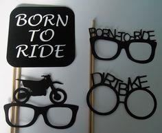 Photo Shoot Dirt Biking Born to Ride  Birthday Party Dirt Bike (2020D) by CustomCreativeCraft on Etsy https://www.etsy.com/listing/219838476/photo-shoot-dirt-biking-born-to-ride