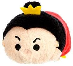 "Disney USA QUEEN of HEARTS Alice in Wonderland Mini TSUM TSUM PLUSH 3.5/"" NWT"