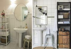 Tem muita gente que vem parar aqui no Blue atrás de inspirações para banheiros que têm o lavatório com coluna. Então, comecei a colecionar ...