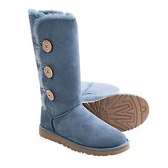 BRAND NEW IN BOX UGG Australia Bailey Button Triplet Boots -Sheepskin -Blue -8