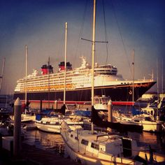 Disney Wonder sailing out of San Pedro, California. L & I went there had cocktails & watched the ships cruise out of the harbor.