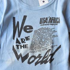 80's WE ARE THE WORLD Tシャツ 表記(M) | *T-shirts | | LABORATORY/BERBERJIN R