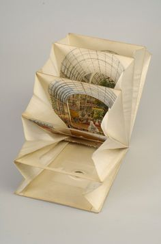 Lane's Telescopic View: The Ceremony of Her Majesty Opening the Great Exhibition (partially open) by Hopkins Rare Books, Manuscripts, & Archives, Paper Book, Paper Art, Paper Crafts, Origami, Altered Books, Altered Art, Pop Up, Libros Pop-up, Tunnel Book