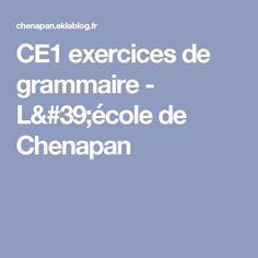 CE1 exercices de grammaire - L'école de Chenapan