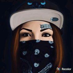 Gangster Girl, Mafia Gangster, Chola Girl, Cool Dpz, Thug Girl, Latino Art, Muslim Beauty, Mask Girl, Chicano Art
